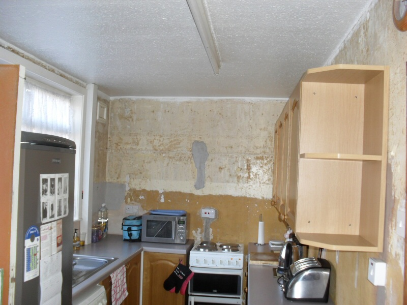 Photo - Kitchen Before and After (1 of 6) - Tired old kitchen in Fleetwood awaiting a full overhaul. - Property Refurbishment - Home - © J C Joinery (NW) Ltd