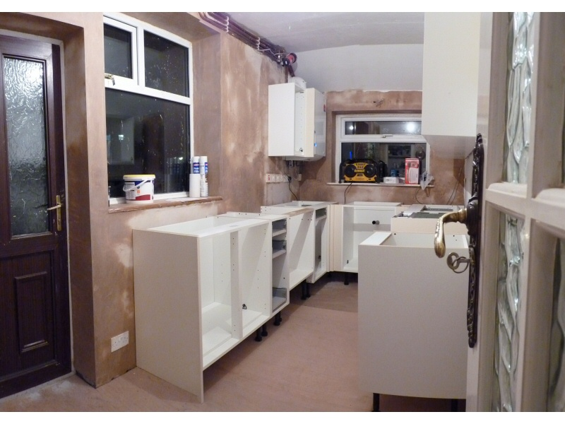 Superieur Photo   Fitted Kitchen, Blackpool (2 Of 6)   Kitchen Unit Frames Assembled