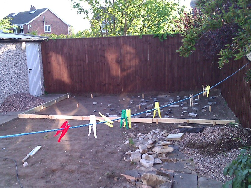 Photo - Outside Office (1 of 7) - Garden in the Blackpool area excavated in preparation for a log cabin to be used as an outside office. - Log Cabins - Home - © J C Joinery (NW) Ltd