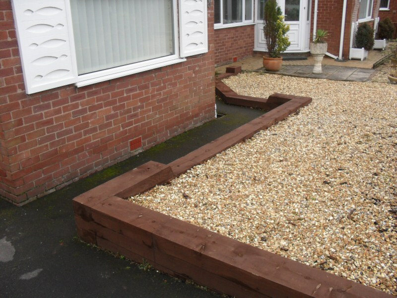 vegetable garden using railway sleepers home and gardening ideas - Garden Design Using Railway Sleepers
